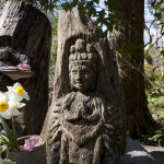 黄梅院にある木彫りの観音様。誰がいつ彫ったのかわかりませんが、いつも、心奪われます。