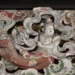 創建当時からの荘厳をそのままに伝える天女の彫刻、四つ目。