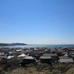 長谷寺、本堂前にある展望台からの眺望。