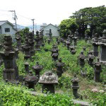 光明寺にある江戸時代の磐城平藩主・日向延岡藩主である内藤家歴代の墓。