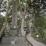 霊光寺。田辺ヶ池の背後にある小高い丘に建っています。