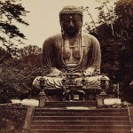 高徳院(大仏)。19世紀に撮影された鎌倉大仏の写真。画像提供:東京国立博物館(http://www.tnm.jp/)