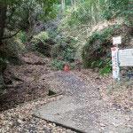 さらに行くと、ハイキングコース入口の看板。
