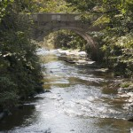 大正期の美しく貴重な橋、東勝寺橋。こうして見ると滑川も趣ある川です。