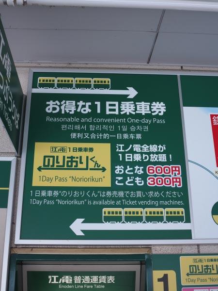 江ノ電全線が一日乗り降り自由になるお得な切符。