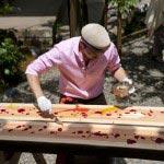 ラパッション、オーナーシェフ金谷さんの食アート。