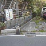 乱橋の反対側。かろうじて水路が残されていました。