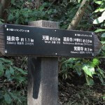 天園ハイキングコース瑞泉寺〜獅子舞上合流地点間。貝吹き地蔵を越えると瑞泉寺口から約1.1kmほど進んでいます。