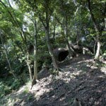 覚園寺口から天園ハイキングコースに入ると尾根道にぶつかる少し手前、右手にあります。