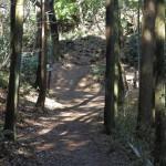 天園ハイキングコース瑞泉寺〜獅子舞上合流地点間。獅子舞方面との分岐点がみえてきました。