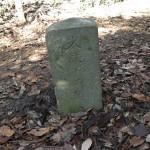 天園ハイキングコース瑞泉寺〜獅子舞上合流地点間。道標には文政12年(1829年)とあります。
