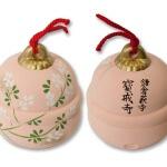 宝戒寺のお土産、萩の土鈴。とてもきれいなのでおすすめです。