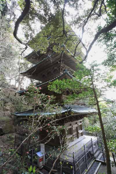 龍口寺の五重塔が見えてきました。