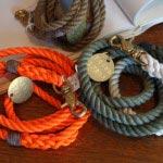 FOUND MY ANMALのレスキューカラーと手染めのロープ・リーシュ、6,680円~。