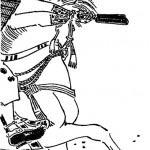 明治時代、菊池容斎により描かれた足利義兼。