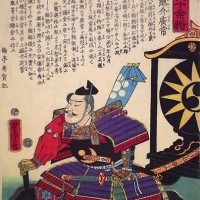 歌川芳虎『大日本六十余将』の上総広常。