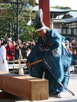 1月4日〈手斧始式〉。鶴岡八幡宮公式HPより。