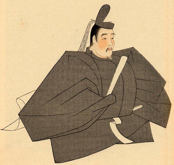 『國文学名家肖像集』の源実朝。