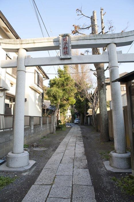 蛭子神社の鳥居。小町大路沿いにあります。