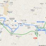 地図3 田楽辻子のみち〜報国寺〜浄妙寺