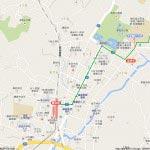 地図1 鎌倉駅〜宝戒寺〜筋替橋
