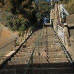 本瑞寺参道の階段。なかなか急です。