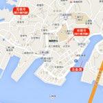 三崎三御所の地図。