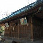 海南神社の神楽殿。
