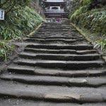 鎌倉の七福神めぐり。浄智寺の階段は鎌倉石で造られています。参道にはあじさいやシャガが咲きます。