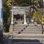 鎌倉の七福神めぐり。御霊神社の門前。
