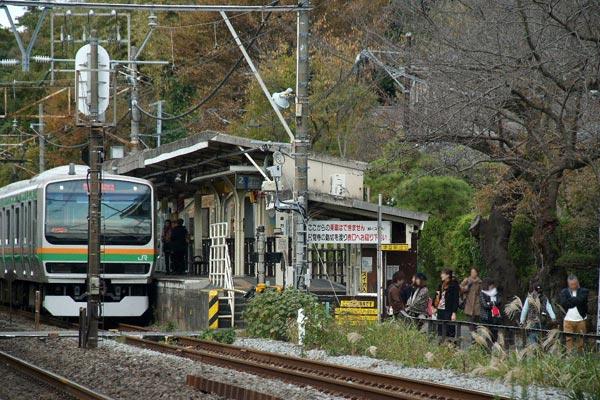 北鎌倉駅。下り側の口。