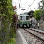 鎌倉駅の次は和田塚駅。鎌倉幕府初代侍所別当、和田義盛とその一族が滅亡した和田塚がすぐ近くにあります。