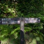 名越切通しは各所に案内板が設置されており迷うことはありません。