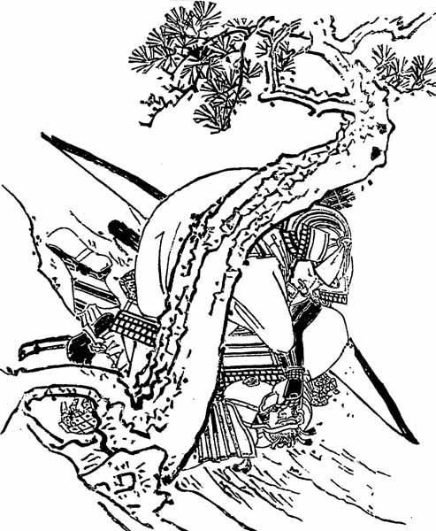 江戸時代、菊池容斎の『前賢故実』に描かれた佐奈田義忠