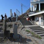江ノ島、稚児ケ淵に降りる階段。
