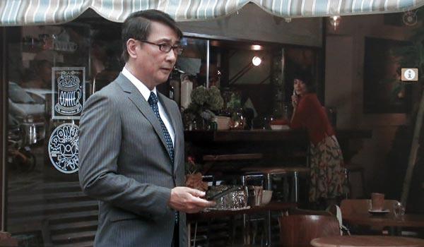 <5>中井貴一(長倉和平)と長谷川京子(原田薫子)がお茶する喫茶店。極楽寺近くの「極楽寺 HALENOVA」。