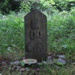 畠山城址の観音像。