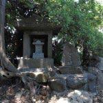 飛柏槙(ビビャクシン)の石碑の近くには日吉社が祀られています。