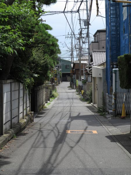 江ノ電「長谷駅」と大仏を繋ぐ裏道。混みあう休日でもゆったり歩きたいものです。