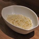 畔家の半田麺。吉野川の清流に育まれた徳島特産の素麺です。