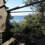 淡島神社からの海。