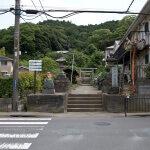 白山神社の入口。