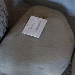 龍寳寺境内、たまなわ民族資料館にある玉縄城の礎石。