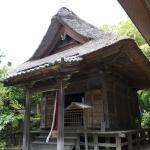 常楽寺仏殿の左にある文殊堂。蘭渓道隆ゆかりの文殊菩薩像が安置されています。
