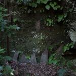 巡礼古道の途中にはいくつか庚申塔があります。