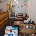 ComoriB*ComoreB+みんなのslow cafeのカフェスペース。とても静かな雰囲気でゆっくりできます。