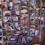 鎌倉ロコマート&ガーデン。店内に飾られた作庭の作例写真。センス良い庭を造ってくれます。