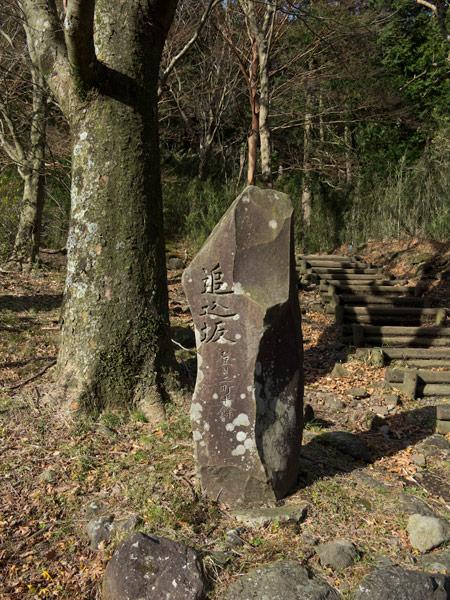 追込坂の石碑。