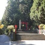 国道脇にある箱根神社参道入口。
