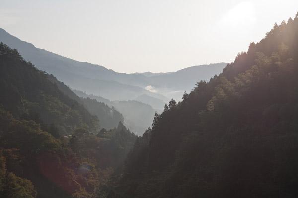梼原の山々を振り返ります。